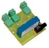 Thyristor BT414 Triggerplatine mit Optikfaser-Anschlussbuchse zur optischen Ansteuerung eines einzelnen Thyristors mit bis zu 25m langem Glasfaserkabel z.B. für die Anwendung als Elektrostatische Filter