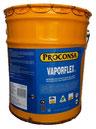Pasta asfáltica base solvente, a base fibras celulósicas, cargas mineráles y solventes especiales.