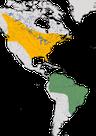 Karte zur Verbreitung des Rotaugenvireos (Vireo olivaceus)
