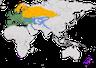 Karte zur Verbreitung des Buchfinks (Fringilla coelebs).