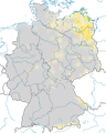 Karte zur Verbreitung des Zwergschnäppers in Deutschland