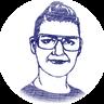 Pietros Frau Ilka als Scherenschnitt Portrait