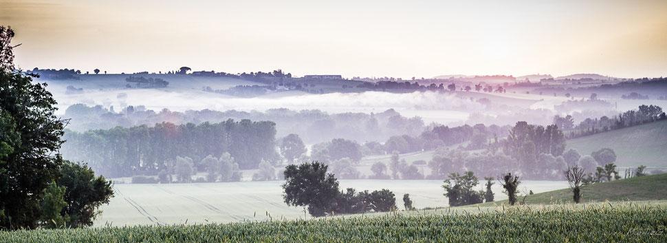 Brumes lauragaises à Loubens-Lauragais (31) Juin 2014