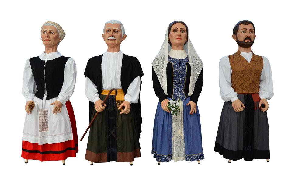 Gigantes realizados por Eskuartean Imaginería Festiva.