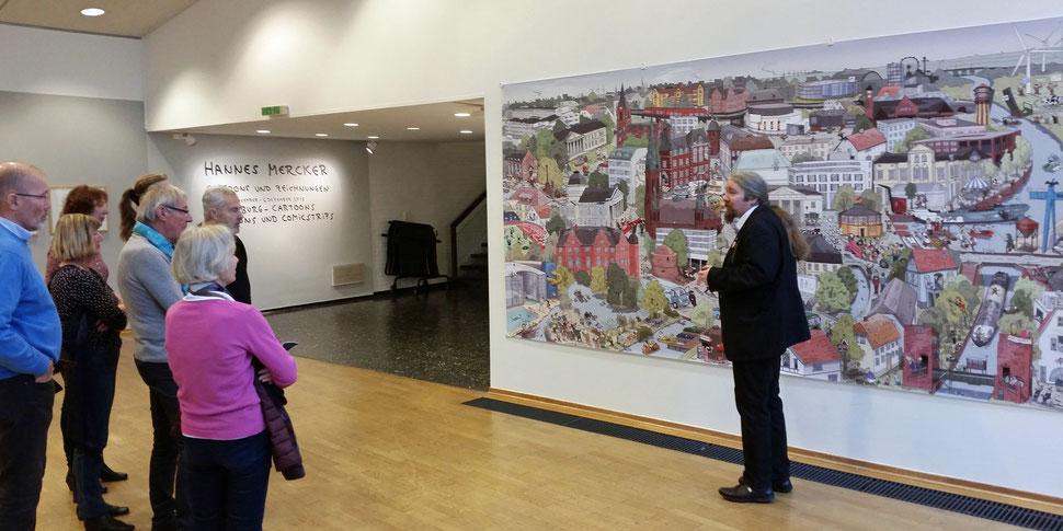 Stadt-Wimmelbild von Oldenburg findet Platz im Stadtmuseum
