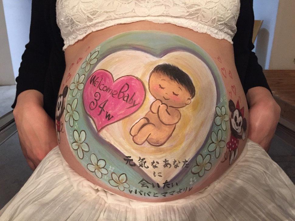 妊婦さんがやってみたいことにベリーペイントがランクイン♡