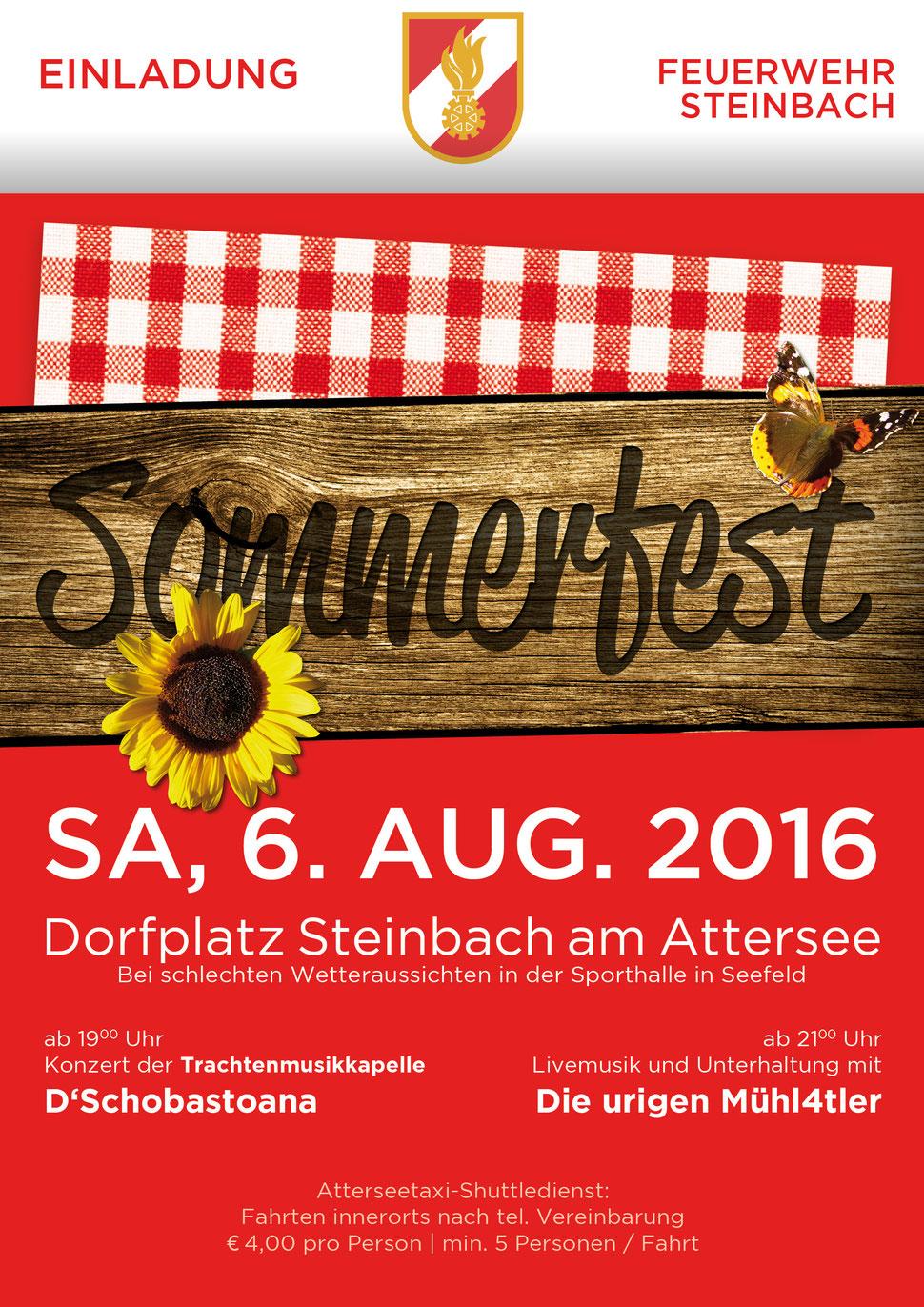 Sommerfest der Feuerwehr Steinbach am Attersee