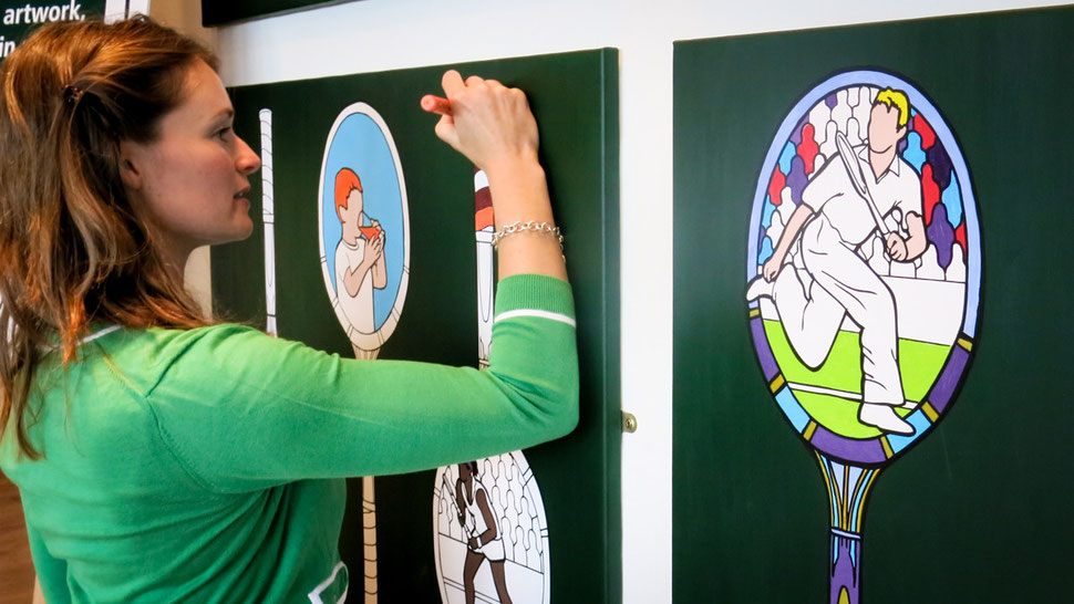 interactive art for brand Robinsons at corporate event