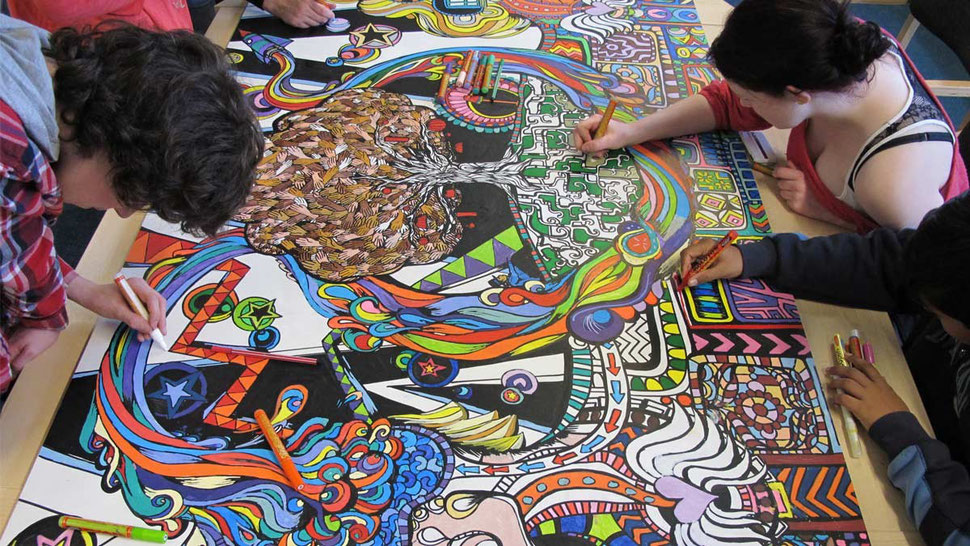 Giant colouring art