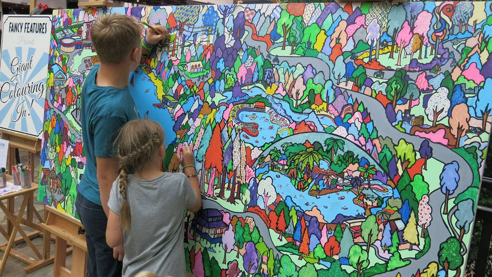 a colouring map made for Center Parcs