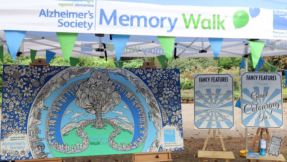 Alzheimer's Society Giant Colouring In Art