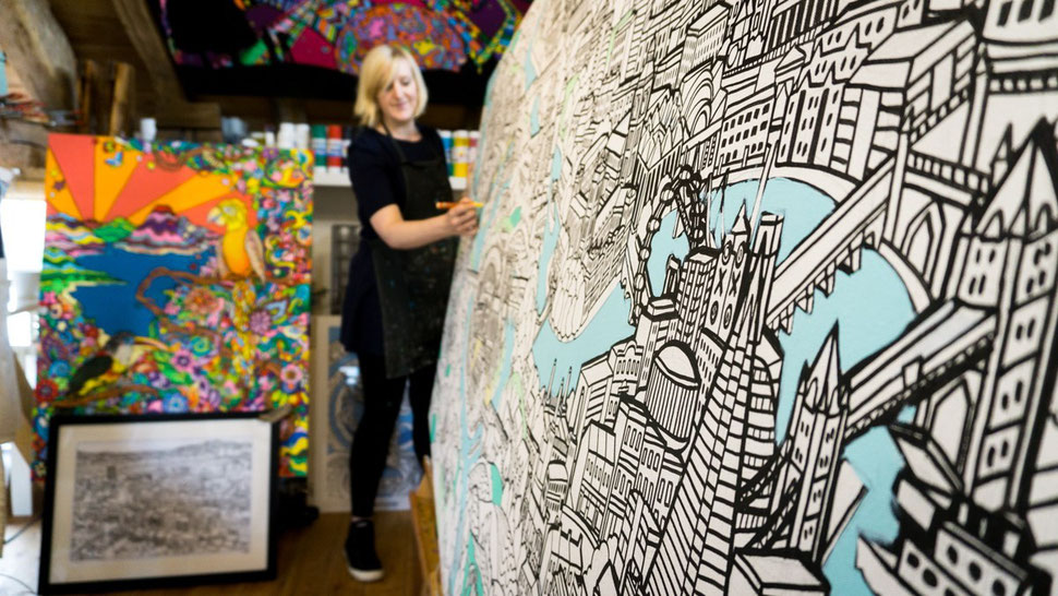 Creative brand experiences with giant colouring in