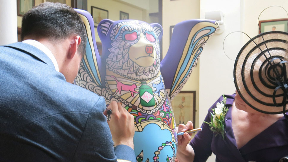 3D colouring in at the event