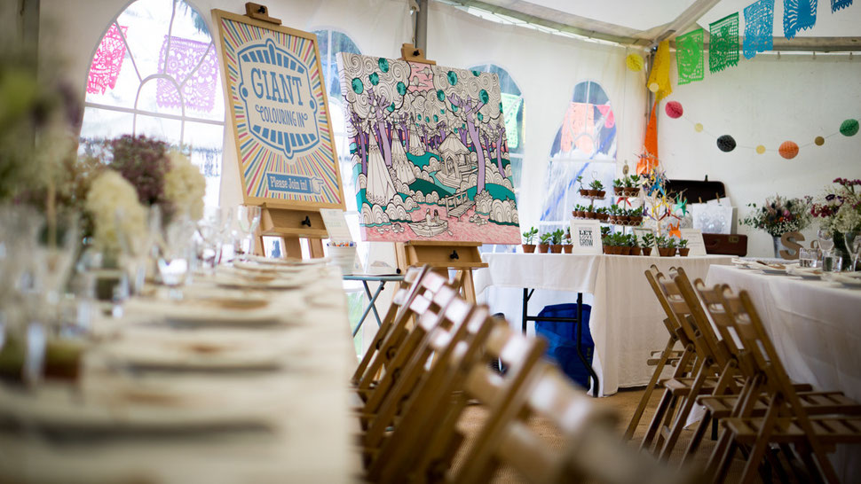 Giant Colouring In - Creative Entertainment for your Wedding Reception