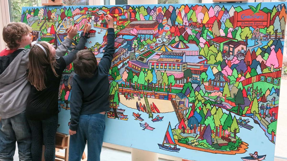 Giant colouring in art