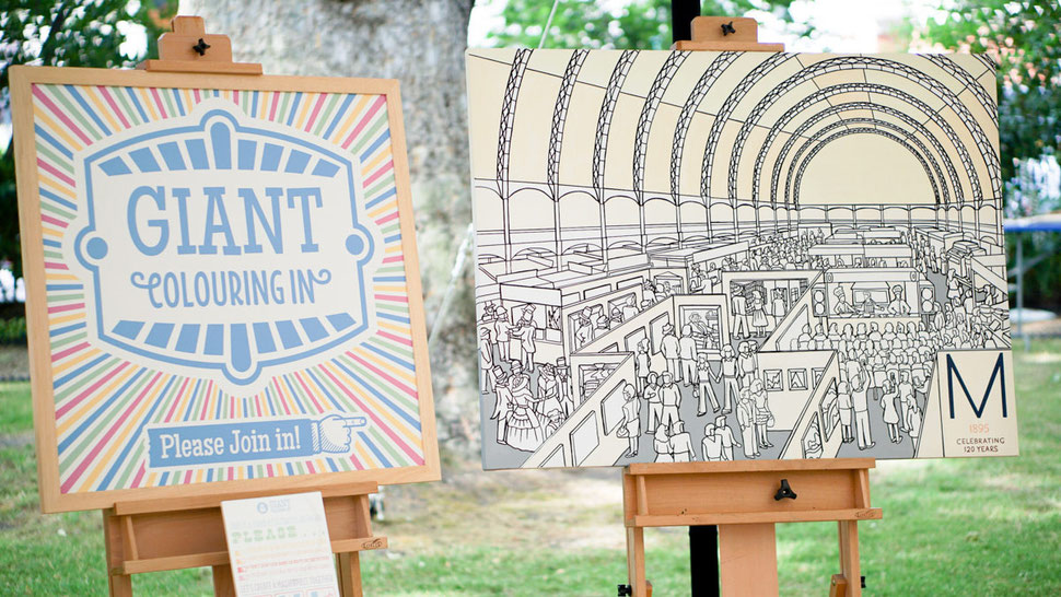 Creative entertainment for brand experiences - Giant Colouring In