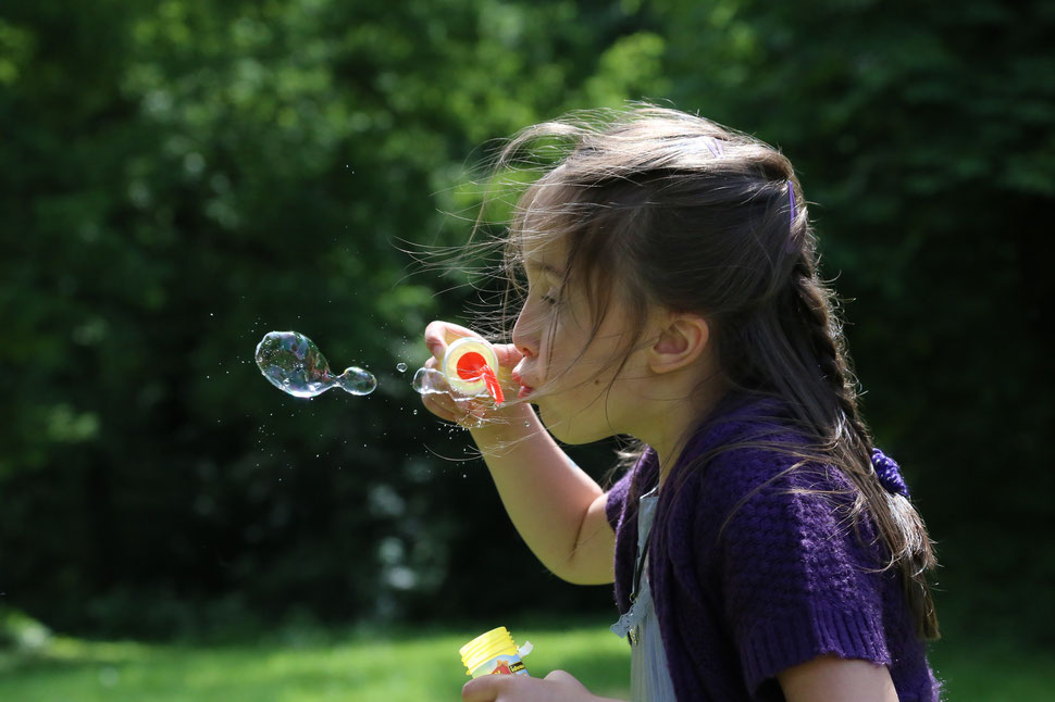 Seifenblasen, Kinderportrait