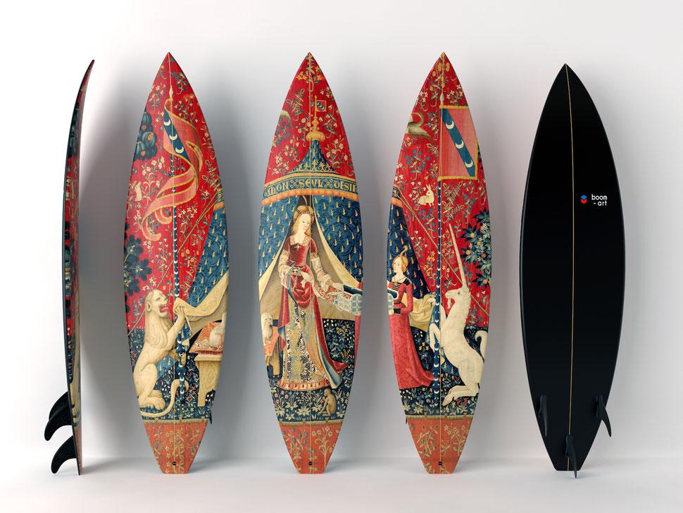 Bosh & Unicorn Triptych Surfboards