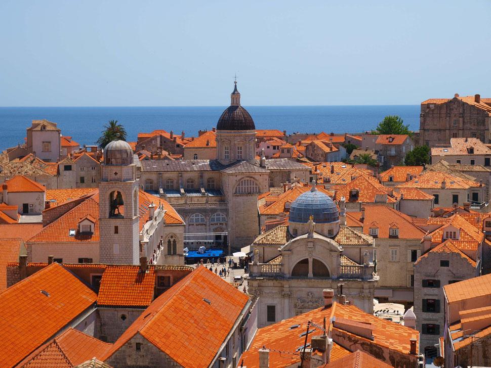 Dubrovnik, Blick über die Altstadtdächer