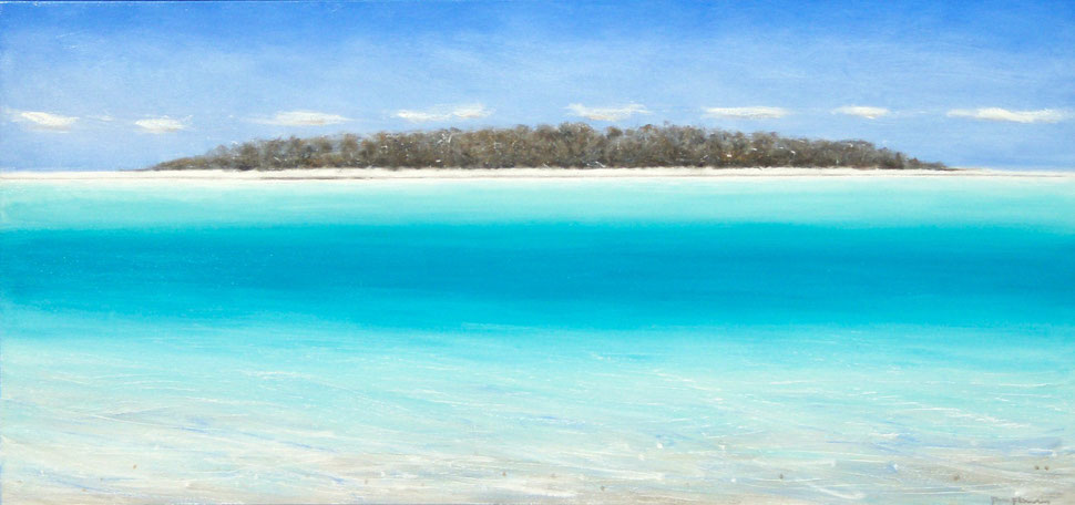 Tryon Island, Great Barrier Reef oil on canvas 86 x 183 cm