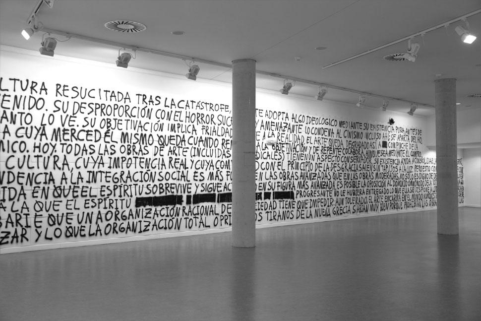 DE ADORNO | Acrilico sobre papel de dibujo Gvarro | 6 unidades de 140 x 400 Cm| 99 D.D.