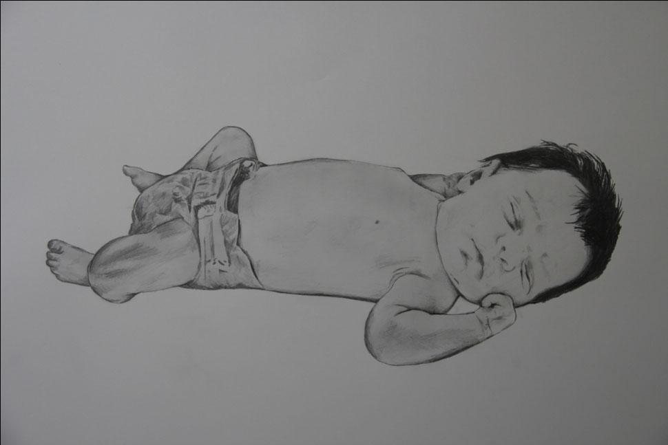 ANDREA | Grafito sobre papel | 50x60 cm. | 9D.D.