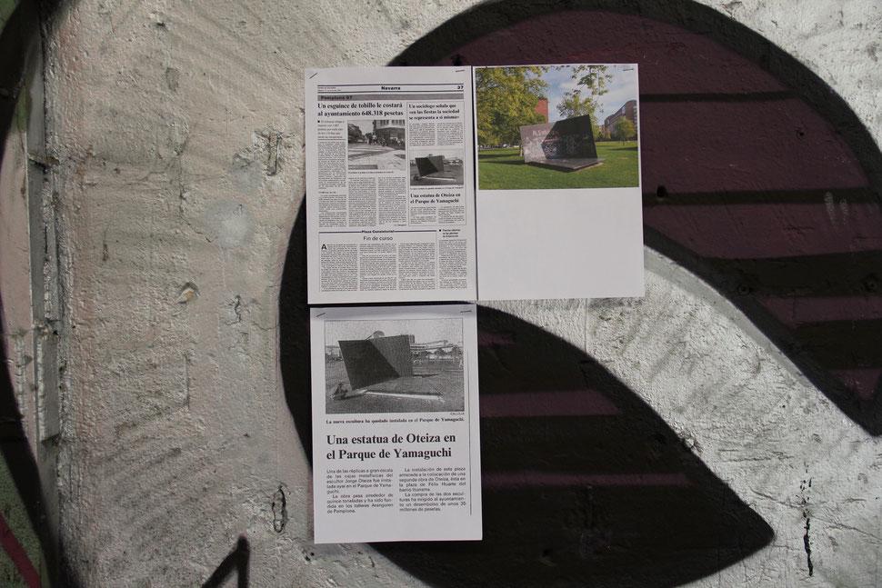 LA NECESIDAD SATISFECHA NO GENERA COMPORTAMIENTO ALGUNO | Cartel publicitario intervenido en las antiguas instalaciones de INDUSTRIAS ARANGUREN | 300 x 420 | 98 D.D.
