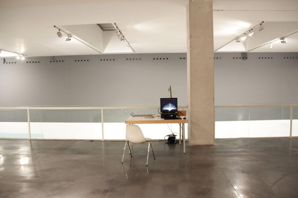 HISTERESIS | Zona de trabajo en el Centro Huarte de Arte Contemporaneo | 99 D.D.