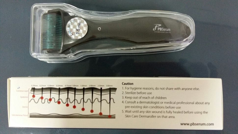 dermarroller corporal de uso clínico.  más de 1200 micro agujas de 1.5