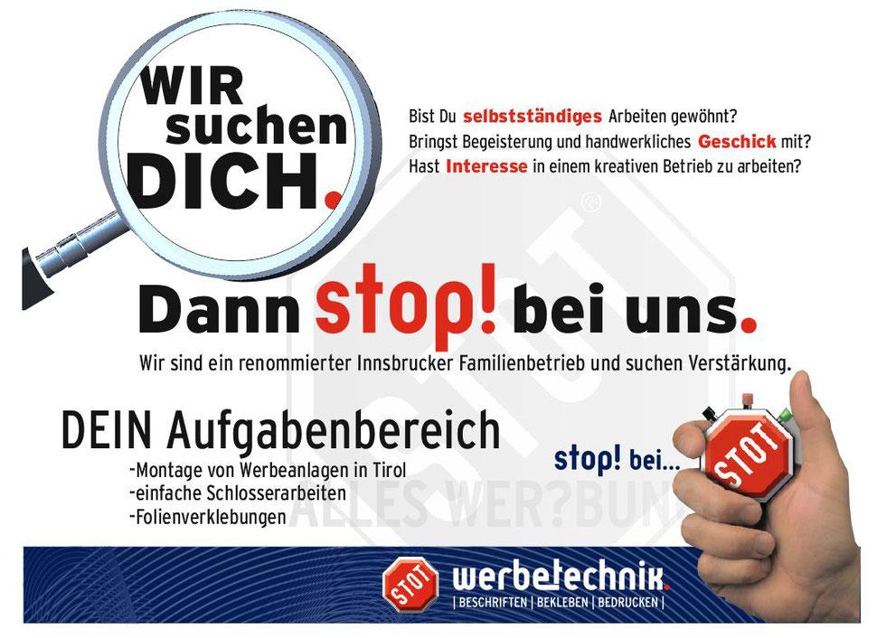 Stellenangebot - STOT Werbetechnik GmbH