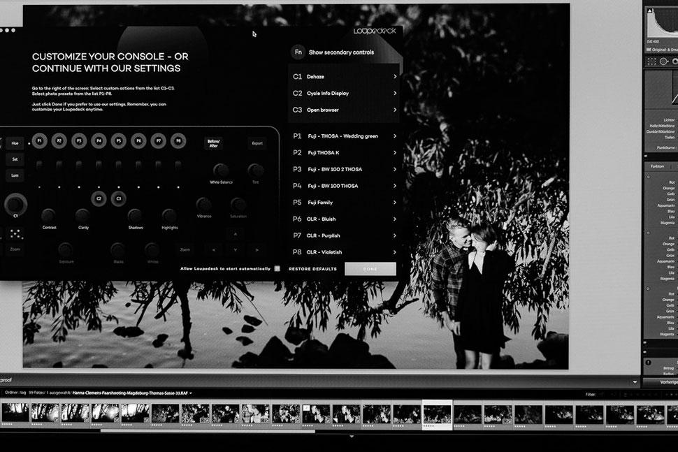 Loupedeck, Lightroom, Software, console, Tastatur Foto Bearbeitung Adobe Lightroom Thomas Sasse Magdeburg Hochzeitsfotograf