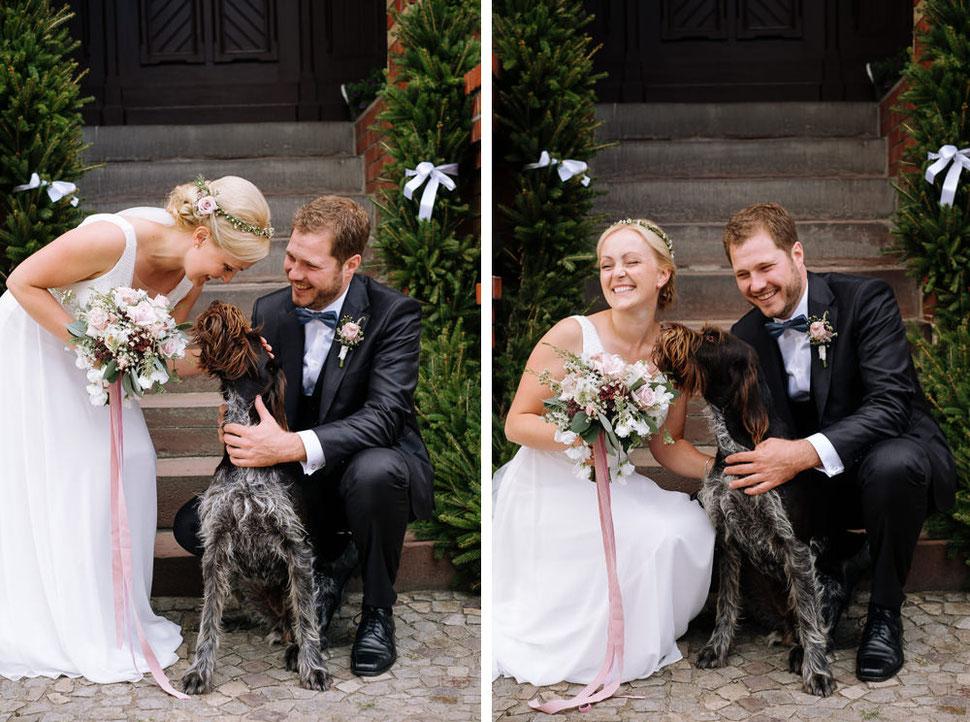 Hochzeit Stendal, Roexe, Magdeburg Hochzeitsfotograf Schlosshotel Tangermuende, Hund, Dog, Bauernhof, oh sweet bloom
