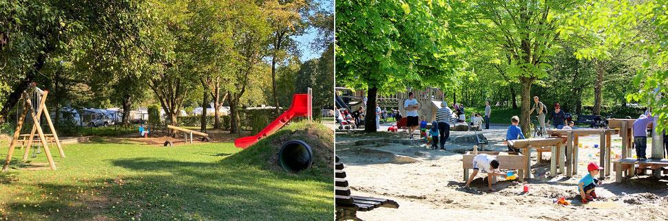 Attraktive Spielplätze in Lörrach im Grüttpark und beim Campingplatz