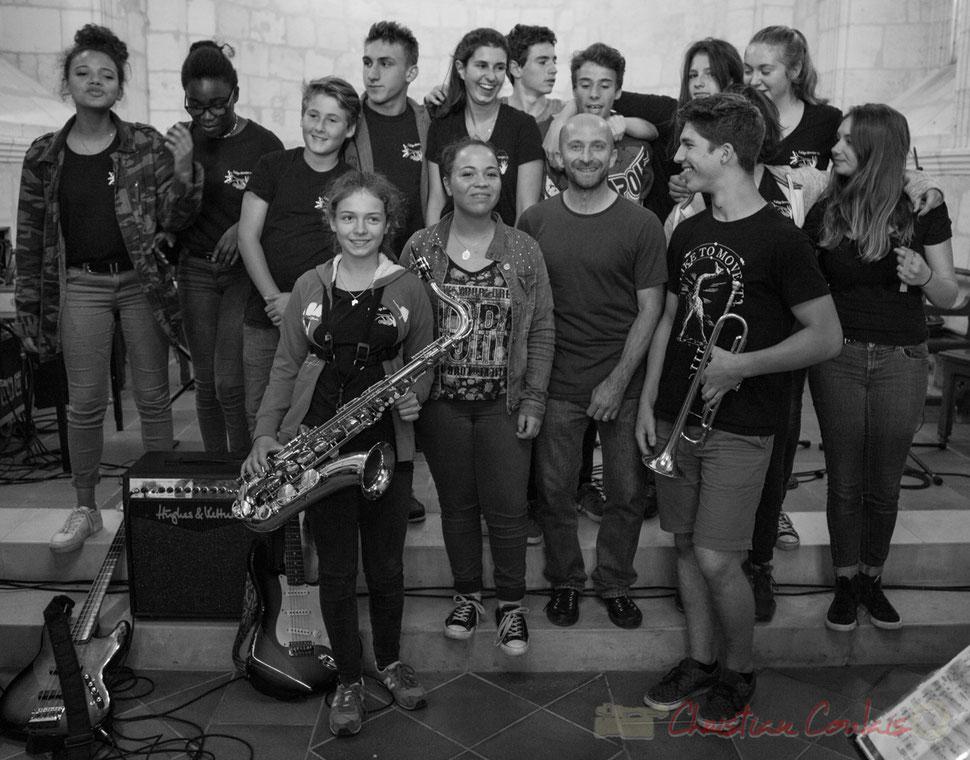 Big Band Jazz du Collège Eléonore d'Aquitaine de Monségur. Eglise Saint-André de Cénac. Festival JAZZ360 2016