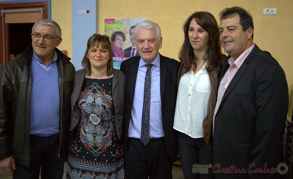 Bernard Castagnet, Sabrina Nietrzeba-Carlesso, Philippe Madrelle, Christelle Guionie, Daniel Barbe. 9 mars 2015
