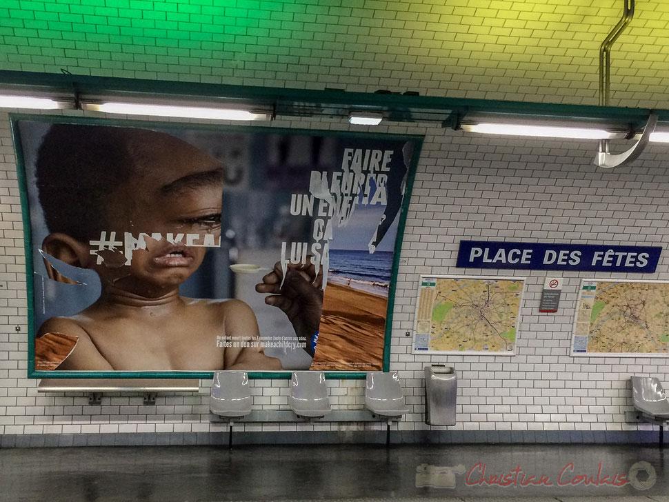 Métro, Place des Fêtes. Oui mais pas pour tous ! Paris 19ème arrondissement