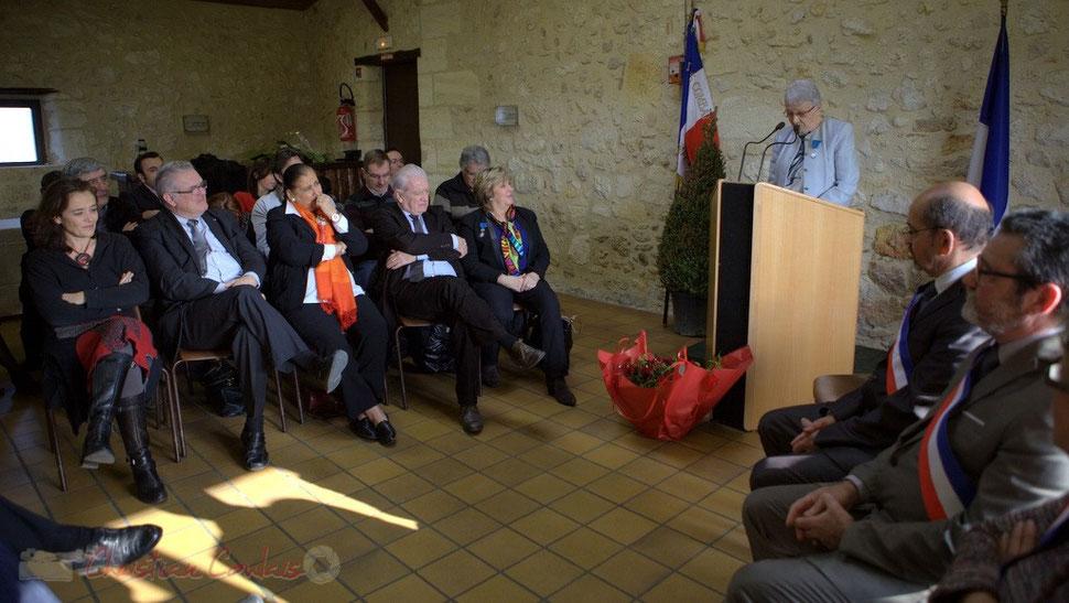 M. Feld, Présidente de la C.D.C. du Créonnais, J-M. Darmian, Vice-président du Conseil général de la Gironde, M. Faure, Députée de la Gironde, P. Madrelle, Sénateur, Président du Conseil général de Gironde, F. Cartron, Vice-présidente du Sénat, S. Grel