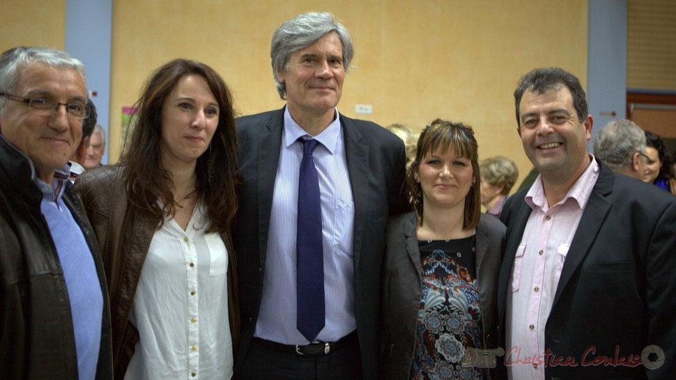 Bernard Castagnet, Christelle Guionie, Stéphane le Foll, Sabrina Nietrzeba-Carlesso, Daniel Barbe. 9 mars 2015