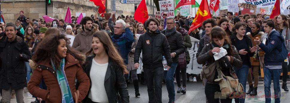 Des organisations de jeunesses, des syndicats de salariés, l'intersyndicale CGT, FO, SUD, SNES-FSU, UNEF, FIDL, UNL, ont appelé à manifester ce mercredi 9 mars 2016, date à laquelle l'avant-projet de loi Travail, de la ministre du Travail Myriam El Khomri