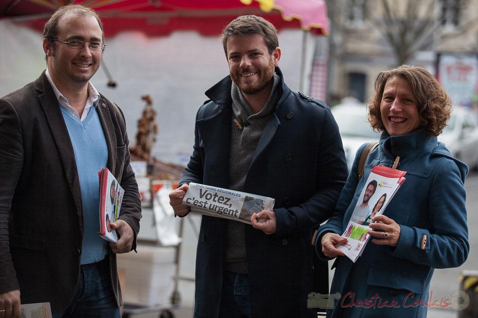 """La vague citoyenne, Christophe Miqueu, Joseph Boussion, Marie Bové, liste """"faisons ensemble"""""""