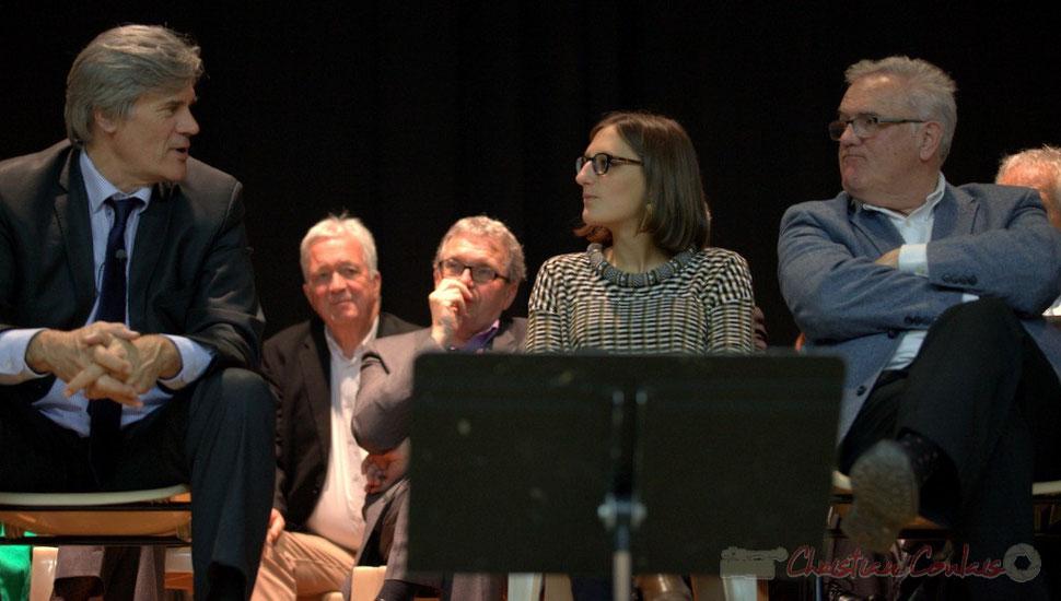 """Stéphane le Foll, Ministre de l'Agriculture, Camille Hollebecque, Jean-Marie Darmian, candidats """"Majorité départementale"""""""