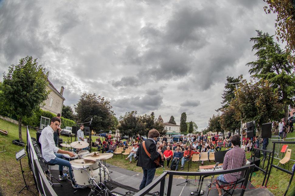 Atelier Jazz du Conservatoire régional de Bordeaux Jacques Thibaud, Festival JAZZ360 2016, place du bourg, Cénac