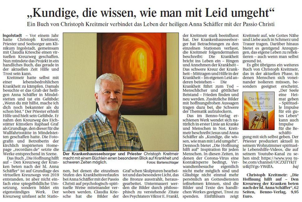 Artikel Anna Schäffer Buch Donaukurier