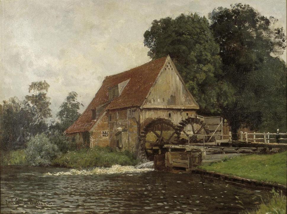 Wassermühle Lage um 1880