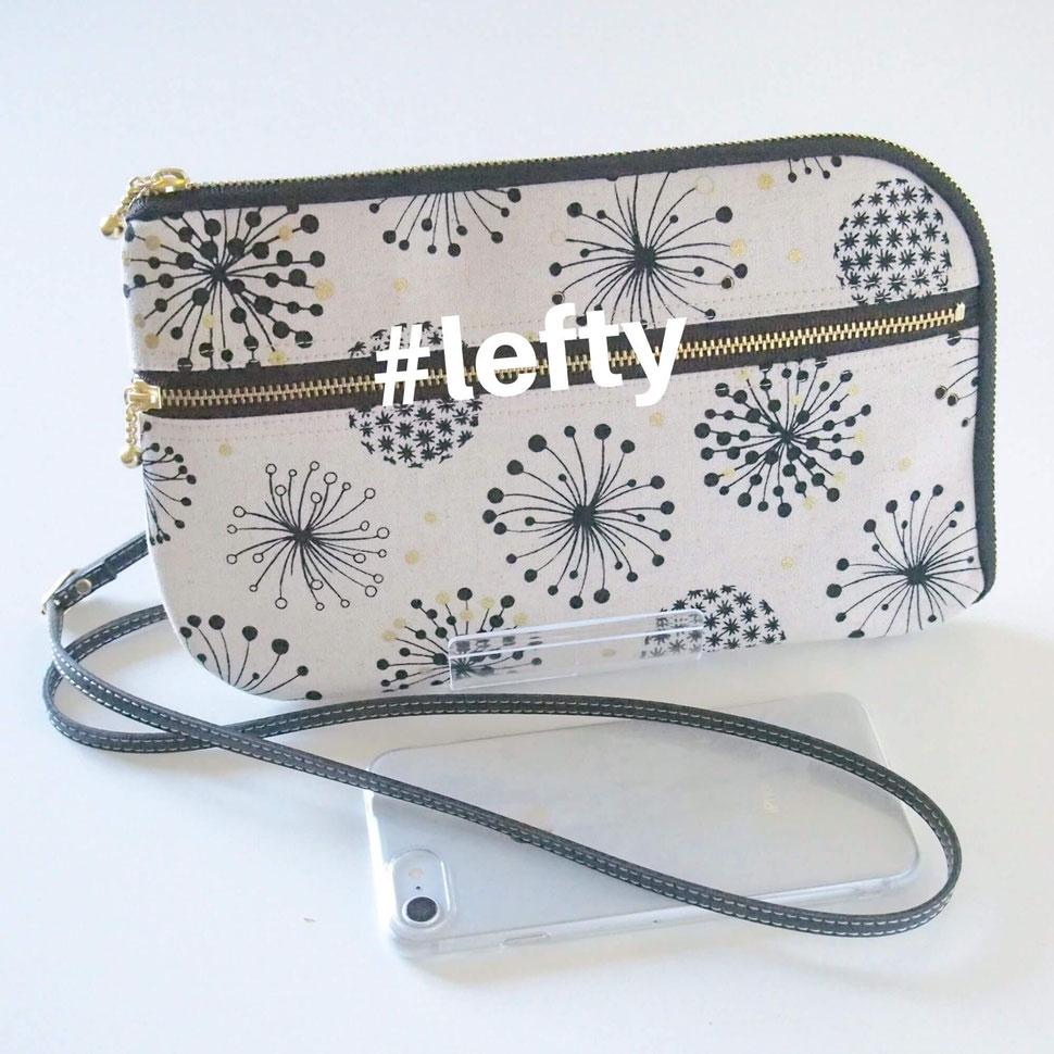 画像:左利きさん用にファスナーを逆にしたお財布ショルダーバッグ