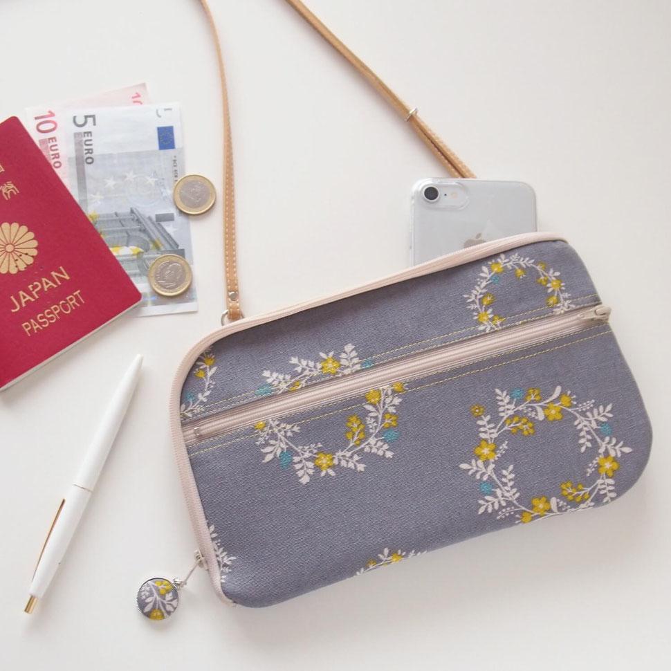 新作お財布ショルダー【ラージサイズ】花かんむり