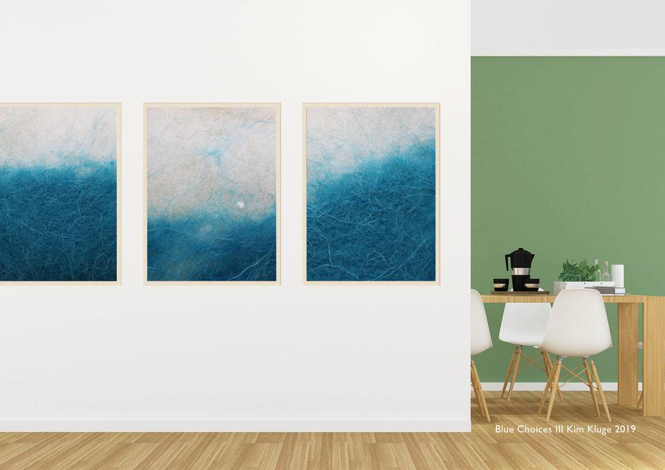 www.kimkluge.com - Blue Choices III Kim Kluge 2019