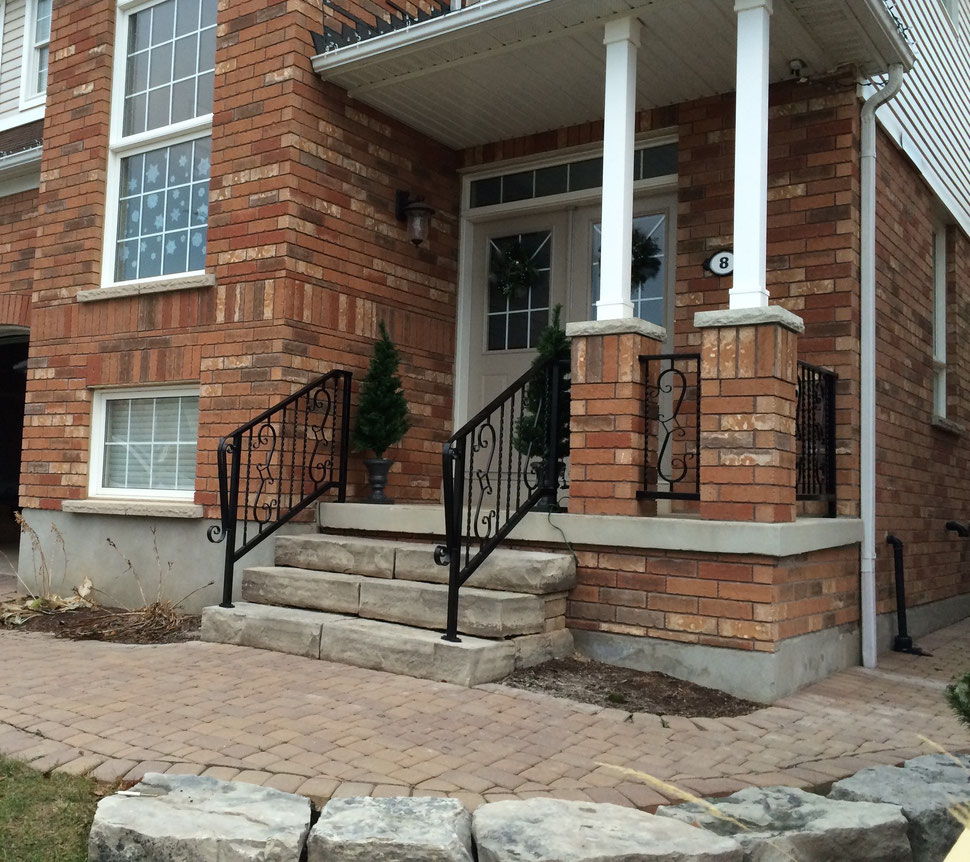Custom Railings Fabricated & installed by Costa GC