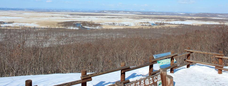 冬景色の細岡展望台