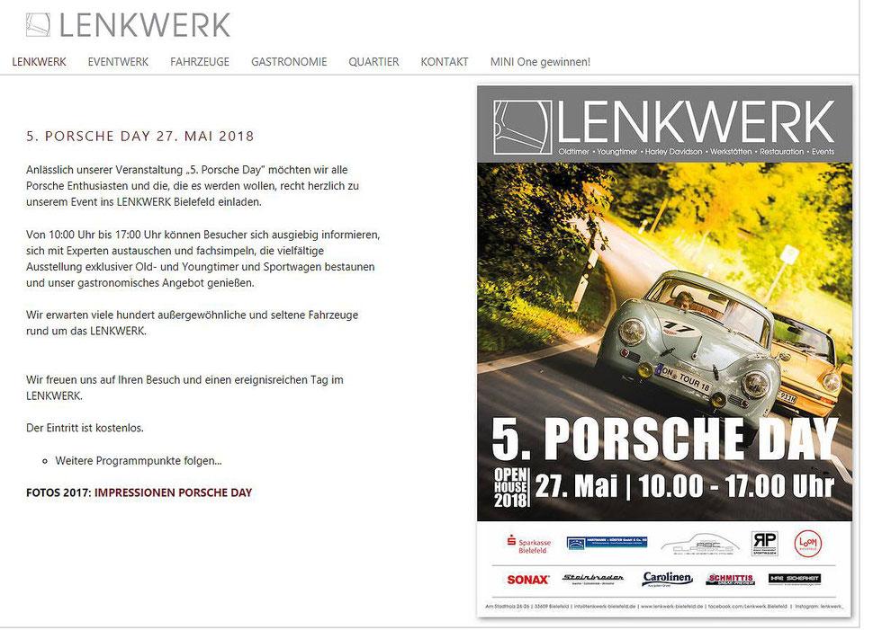 Porsche Day Lenkwerk Bielefeld